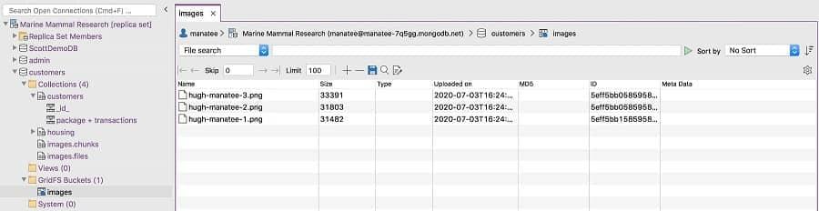 GridFS Support - Studio 3T MongoDB GUI