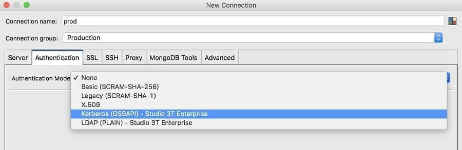 LDAP & Kerberos Authentication - Studio 3T MongoDB GUI