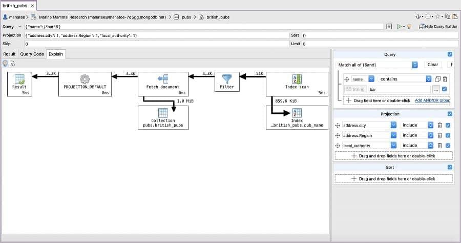 Visual Explain - Studio 3T MongoDB GUI