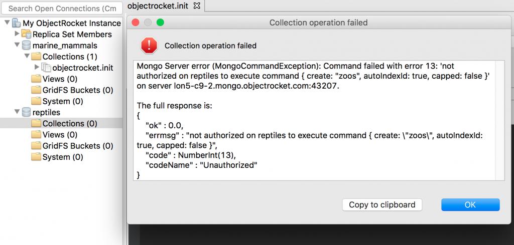 Authorization error on Studio 3T