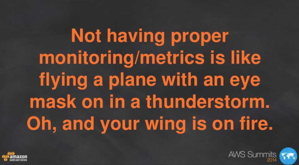 Amazon slide about metrics