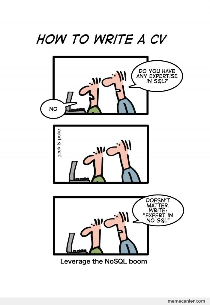 The history of NoSQL... starts with SQL.