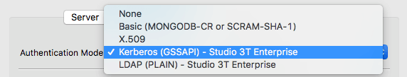 Whether it's LDAP or Kerberos you need, Studio 3T Enterprise supports both and makes the deployment process super-easy