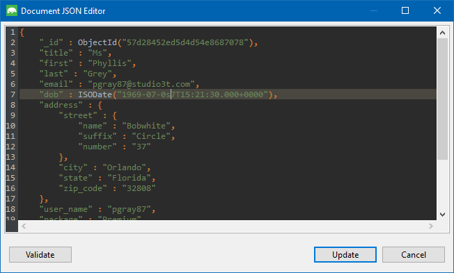 Edit JSON documents.