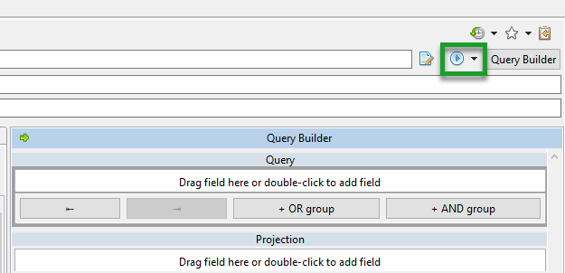 The 'Execute' or 'Run Query' Button in Studio 3T