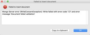 JSON schema validation error message