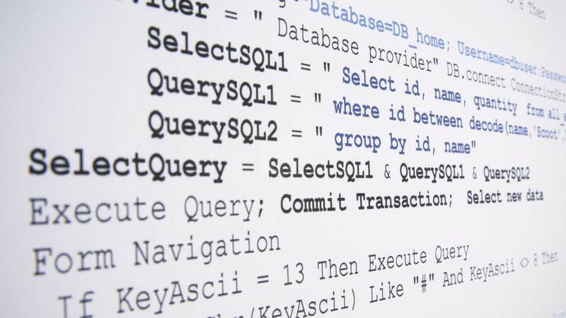 An image of a SQL query