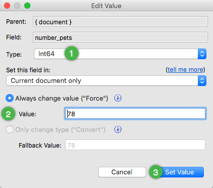 With Studio 3T 2019.1, it is now possible to preserve values when changing field types