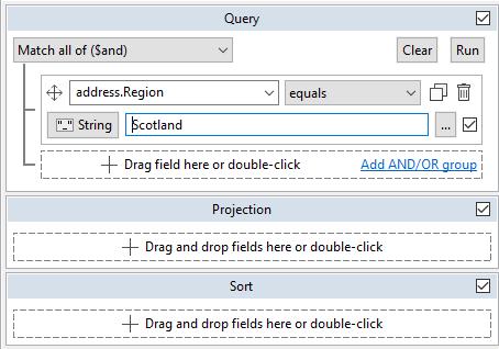 Query tab