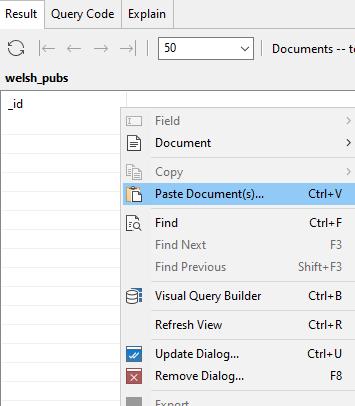 paste document space