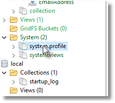 View system profile in Studio 3T