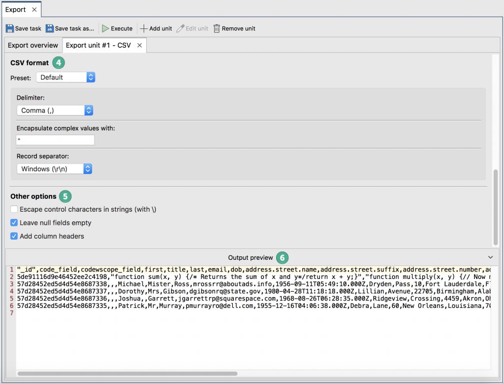 More CSV configuration options in Studio 3T