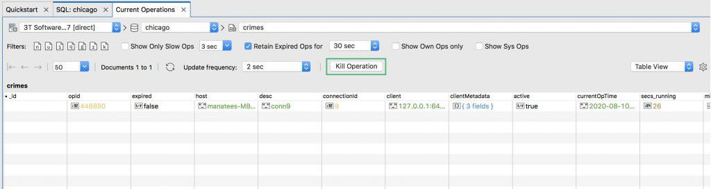 Kill long-running MongoDB operations