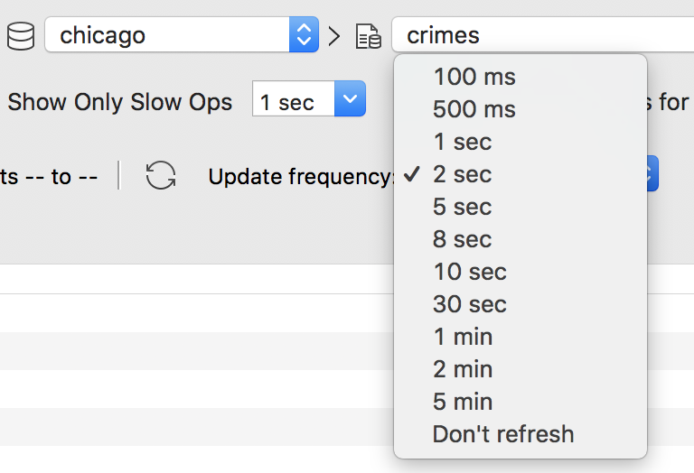 Choose your update frequency
