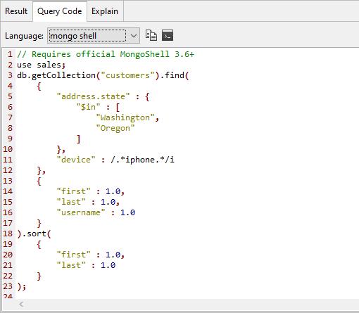 Query code