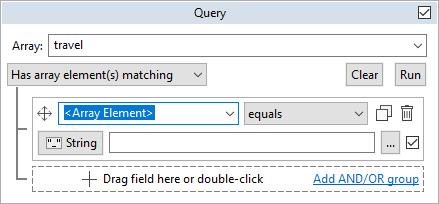 Travel tab query