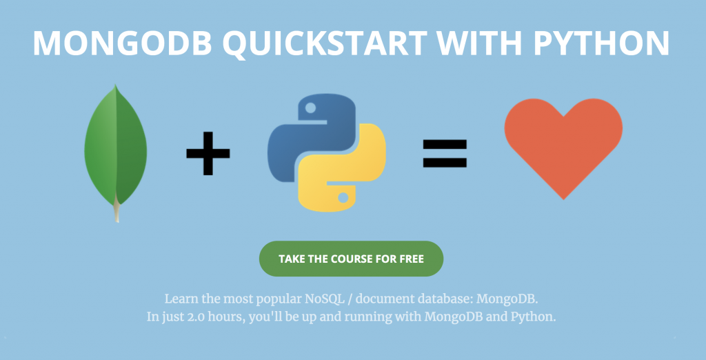 Free MongoDB Course with Python