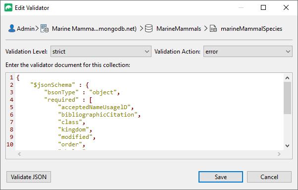 edit validator
