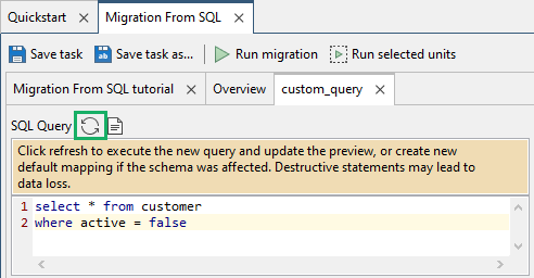 Create default mapping for query