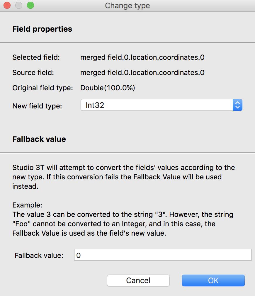 Change MongoDB field type