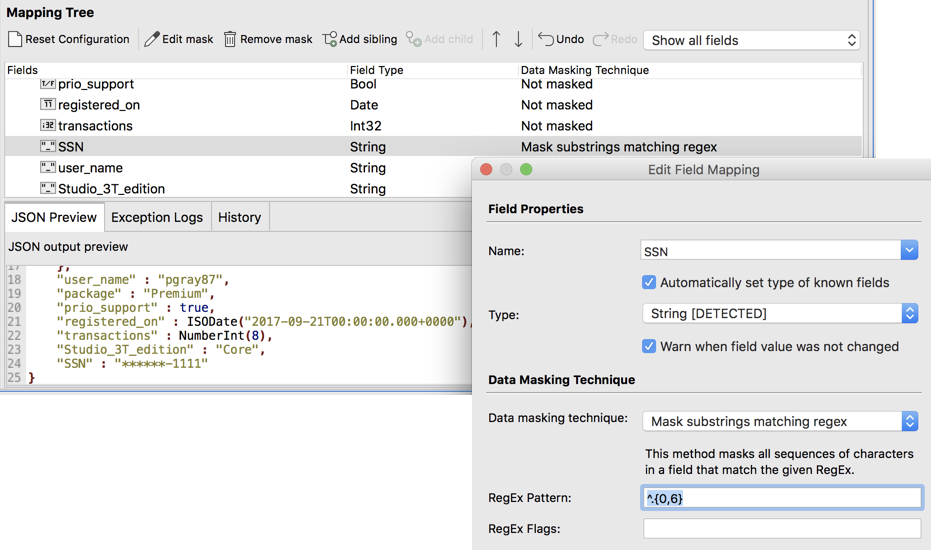 Data Masking for MongoDB