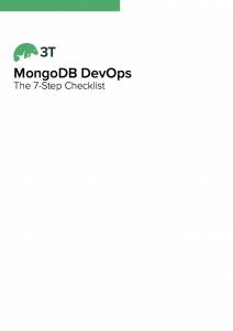 Download the MongoDB whitepaper, The 7-Step MongoDB DevOps Checklist