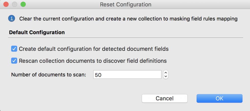Reset configuration