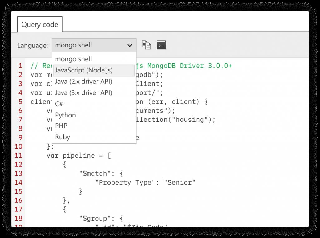 Query Code - MongoDB query code generation