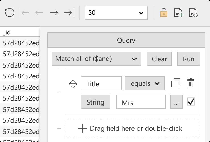 Studio 3T Visual Query Builder