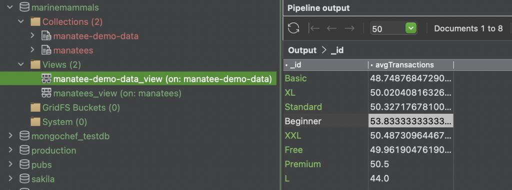 MongoDB Charts - View saved