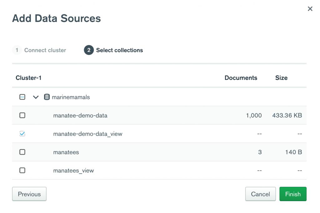 MongoDB Charts - add data sources