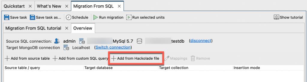 Importing Hackolade Models into Studio 3T