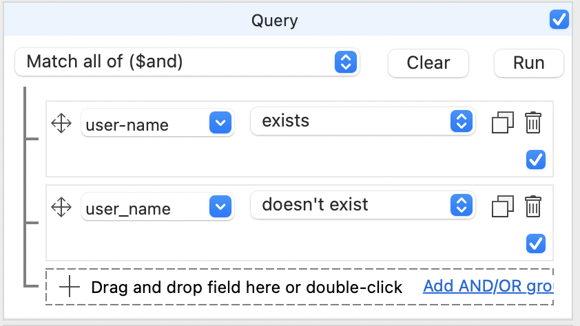 Using the Visual Query Builder to look for overlap